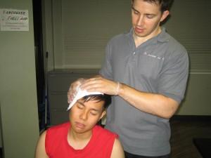 Bleeding head injury