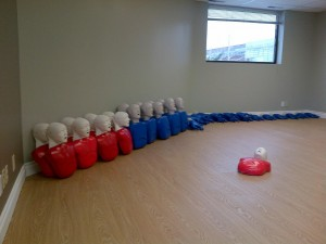CPR/AED training room