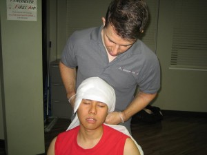 Head Injuries - Applying Gauze, Dressing and Bandage to Wound