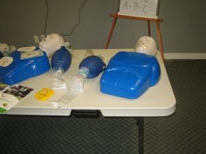 Adult training mannequins and bag valve masks