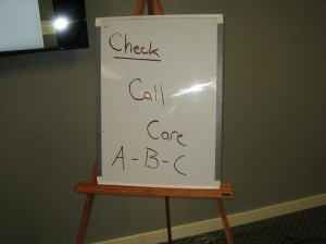 workplace approved first aid lesson - Check, Call, Care